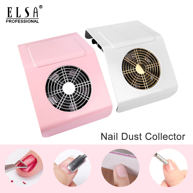 40W Powerful Nail Dust Suction Collector Vacuum Cleaner With 2 Dust Collecting Bag Nail Art Equipment Manicure Salon Equipment