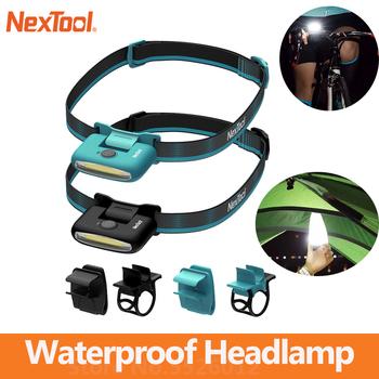 Nextool reflektor COB uniwersalna lampa czołowa wodoodporna type-c akumulatorowa lampa LED latarka przenośna zewnętrzna lampa kempingowa tanie i dobre opinie YOUPIN NONE CN (pochodzenie) Nextool Headlamp Gotowa do działania 2 KANAŁY