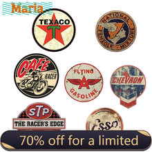 Autocollant d'huile de course rétro Hotrod STP Vintage, Badge de marque américaine, autocollant de voiture, décor de moto et ordinateur portable tout-terrain, décoration A4 Q3