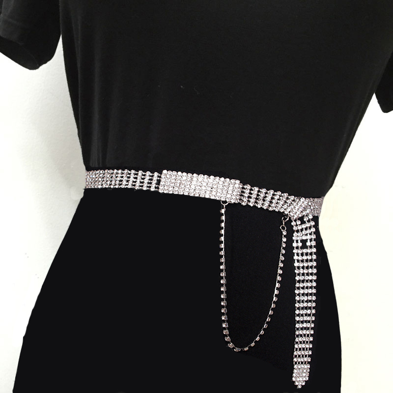 2020 Spring New Design Diamond Waistband Trendy Fashion Belts For Women All-match Solid Belt Stylish Corset Belt Female ZK986