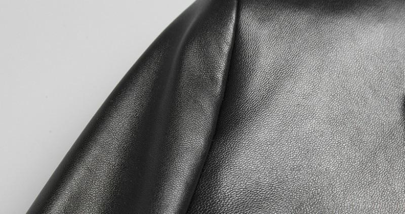 Брендовый черный блейзер из натуральной кожи, мужской деловой осенний тонкий пиджак из овчины размера плюс 5XL, модный пиджак с длинным рукавом