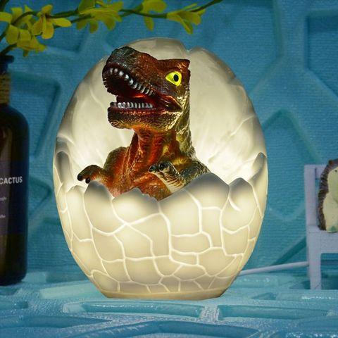 dinossauro 3d conduziu a lampada da noite controle de toque regulavel 7 rgb cor mudando