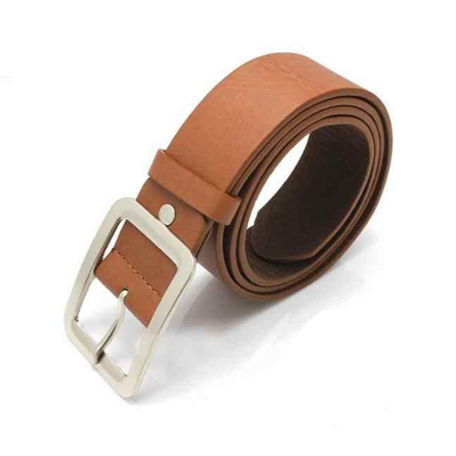 Roupas Acessórios Falso Cinto de Couro Fivela Homens Cinto de 108 centímetros de Comprimento Liga Quadrado Tira Da Cintura Elástica Cintos Para Calças de Brim de Aniversário presente