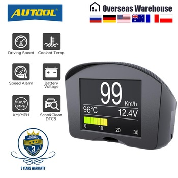 AUTOOL X50Plus wielofunkcyjny samochód OBD inteligentny miernik cyfrowy Alarm miernik temperatury wody cyfrowy wyświetlacz prędkościomierz napięcia tanie i dobre opinie CN (pochodzenie) AUTOOL X50 PLUS Overspeed reminding head up display can not support J1850 Protocols car Send car information to seller before purchase