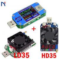 USB 2,0 3,0 USB Tester voltímetro amperímetro voltaje medidor de corriente de batería medida de carga UM25 UM25C para la aplicación con 35W LD35 HD35 carga