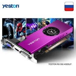 Yeston Radeon mini RX 550 GPU 4GB GDDR5 128bit 게임용 데스크탑 컴퓨터 PC 비디오 그래픽 카드 VGA/DVI-D/HDMI PCI-E 3.0 지원