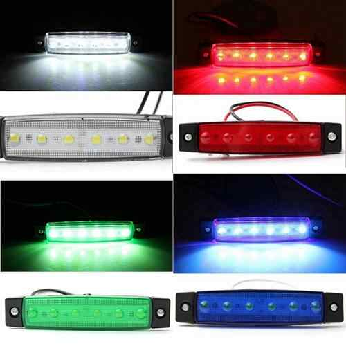 1Pc 6 LED Side Marker Indicators Lights Safe Lamp 12V for Truck Trailer Lorry 2020