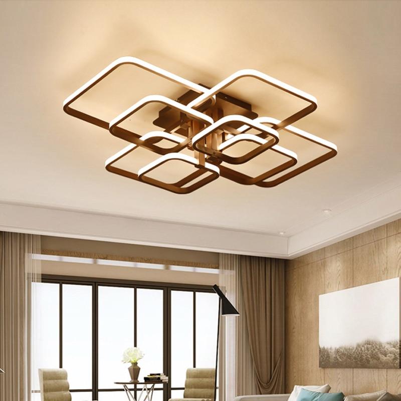 Kwadratowa nowoczesna lampa sufitowa Led do salonu lampka do sypialni 220v oprawy oświetlenie domu z pilotem możliwość przyciemniania luster