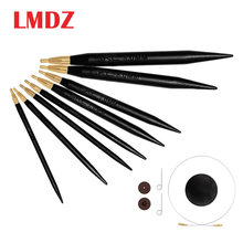 LMDZ 1Pcs 40cm High Quality Sandalwood Circular Knitting Needles Sweater Weaving Tools Wool Cotton Yarn DIY Knit Accessories(China)