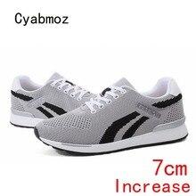 Cyabmoz Men sneakers Fashion Summer Casual Elevator 7CM Heig