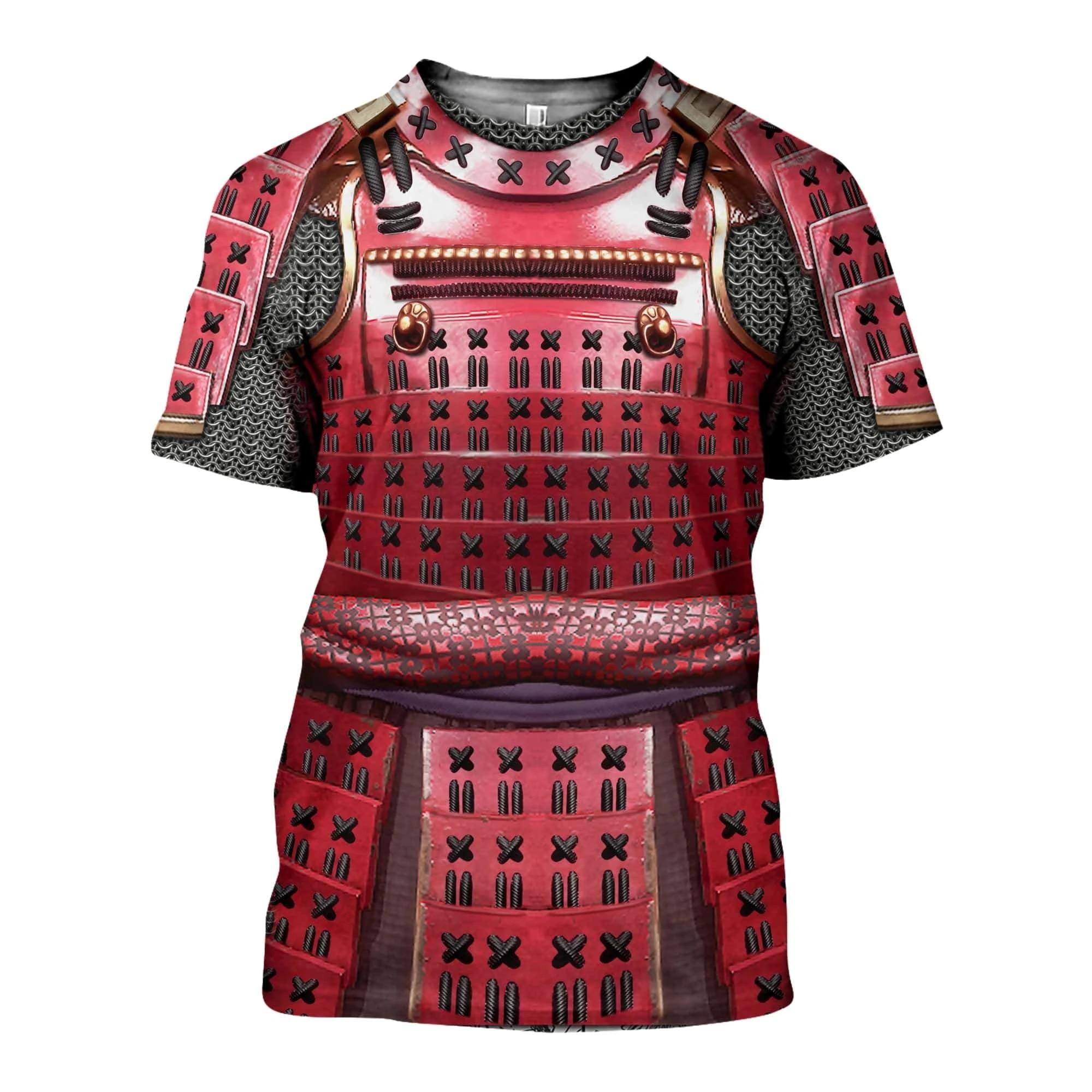 2020 New Summer T Shirts 3D Printed Samurai Armor Men Harajuku Fashion Short Sleeve Shirt Street Casual Unisex T-shirt Top