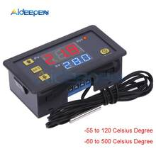 Termômetro digital k tipo termostato,-60 °c ~ 500 °c, sensor de refrigeração, aquecimento e controlador de temperatura w3230