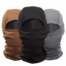 Camouflage Full Face Mask Quick-dry Hood Hunting Hiking Scarf Outdoor Cycling Hiking Warm Face Mask Hat Head-mounted dust mask недорого