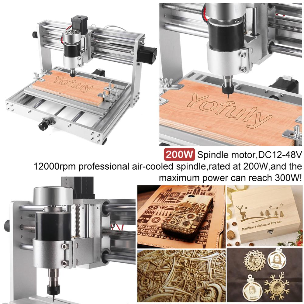 Image 5 - CNC 3018pro MAX Engraver GRBL Control with 200w Spindle,3 Axis PCB Milling machine,15w big power laser DIY Wood RouterWood Routers   -
