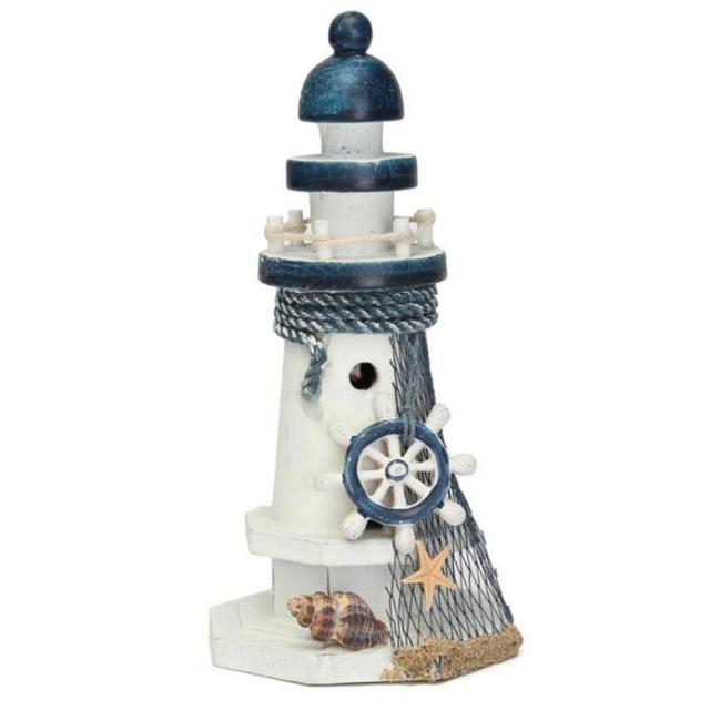 1 Piece Wrought Iron Nautical Lighthouse Lantern Candle Holders Sea Theme Home Cafe Tabletop Centerpieces 3