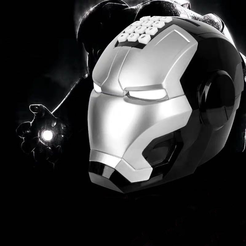 黑银色钢铁侠存钱罐