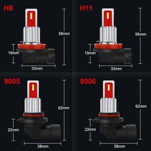 Image 5 - 2Pcs LED H8 H11 Led Bulb 9005 HB3 9006 HB4 Led Auto Fog Light 6500K 8000K 4300K Car Lamp 12V Driving Running Lamp Blue Amber