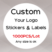 1000 PCS Custom Sticker Labels Logo Name Stickers Personalized Packaging Label Wedding Birthday  Party Design Your Own Sticker