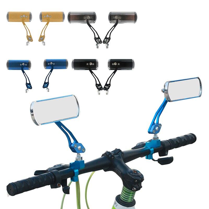 Велосипедное Зеркало заднего вида, 2 шт., универсальное зеркало заднего вида для горного велосипеда, вращение на 360 градусов, небьющиеся