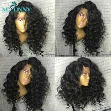 13x6 Lace Front Jerry Curly Wig 180 Density Fake Scalp Human Hair Wigs Glueless Remy Brazilian Pre Plucked For Women xcsunny