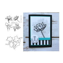 JCarter Metal Cutting Dies and Clear Stamps Lotus Flower Scrapbooking Craft Stencil Card Making Album Sheet Decoration 2019 Die
