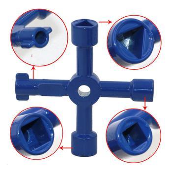 Uniwersalny czterokierunkowy trójkąt klucz sterowanie elektryczne szafka klucz krzyżowy hydraulik zawór trójkąt akcesoria do domu narzedzia samochodowe tanie i dobre opinie VAHIGCY CN (pochodzenie) zinc alloy Mini Wielofunkcyjny cross 4-way keys Zestaw kluczy four-in-one key wrench cross wrench