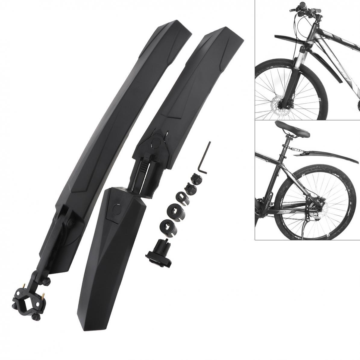 Negro ESjasnyfall Guardabarros de Bicicleta Ultraligero F/ácil de Instalar MTB Guardabarros Guardabarros Alas para Guardabarros Traseros Delanteros de Bicicleta Piezas de Bicicleta