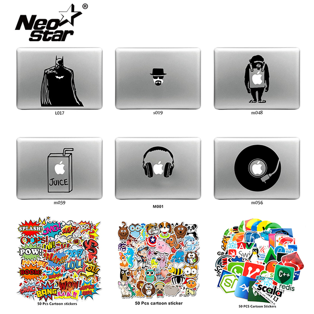 "NEO STAR Vinyl Skin Sticker for Macbook Air & Pro 11 ""13"" 15 ""17""  Mixed Vinyl Stickers for Tablet/Car/Laptop Decorative Sticker"