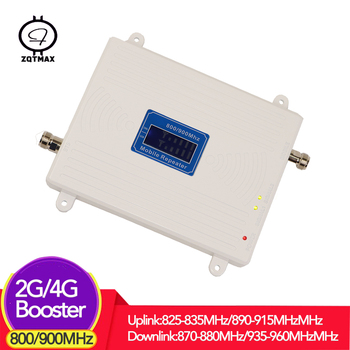 ZQTMAX 2g 4g mobile signal booster 850 lte cellular amplifier internet repeater gsm 900 MHz call phone booster B5 B8 dual band