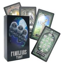 Tarô cartões adivinhação familiars destino oracle cartões de mesa jogo de tabuleiro família jogando cartões de aniversário presente