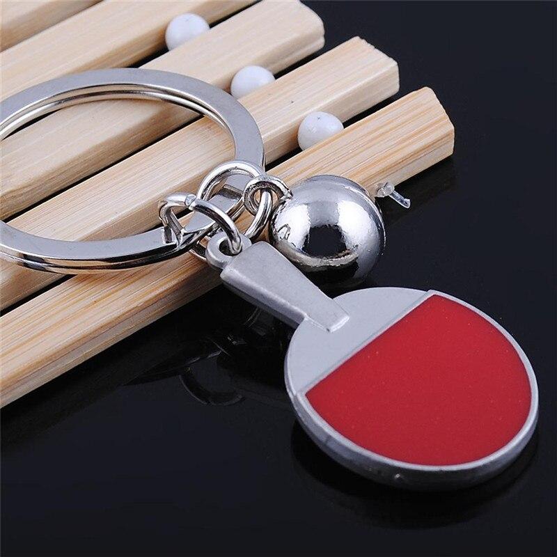 2020 novo esporte ping-pong bola de tênis de mesa badminton bola de boliche chaveiro chaveiro chaveiro chaveiro lembrança presente s024