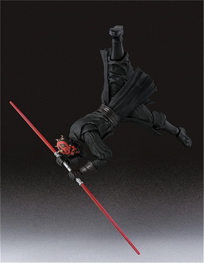 15cm Shf Star Wars Darth Maul Lightsaber Black Series Action Figures Super Movable Joints Face Change Pvc Models Gifts Figures 6