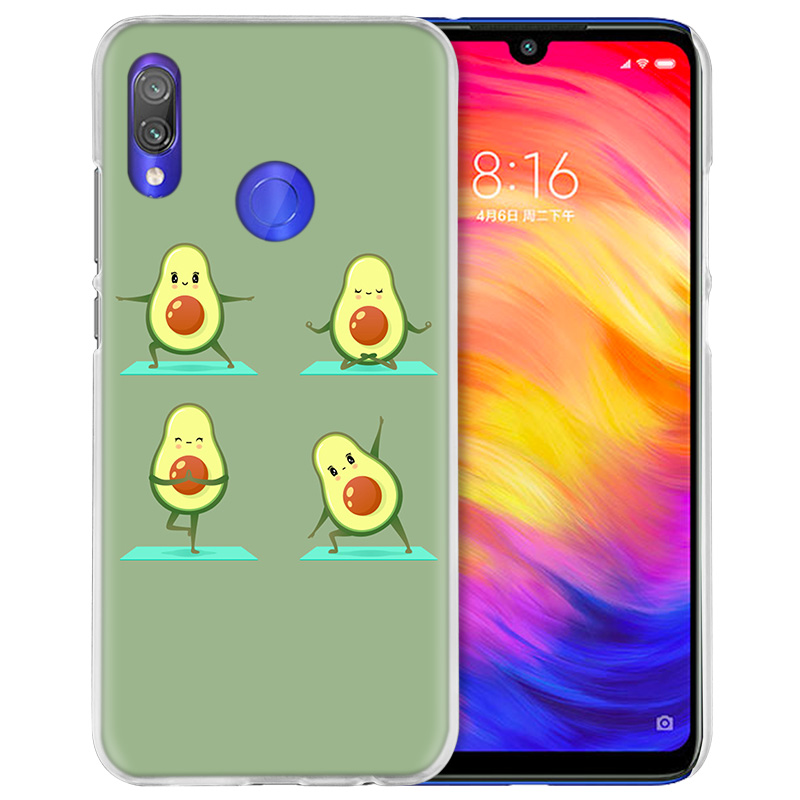 Image 3 - Case Cover for Xiaomi Redmi Note 7 7A 7S 6 6A 5 Y3 K20 Mi 8 9T CC9 CC9E A1 A2 A3 Play F1 Lite Pro Plus avocado yoga-in Half-wrapped Cases from Cellphones & Telecommunications