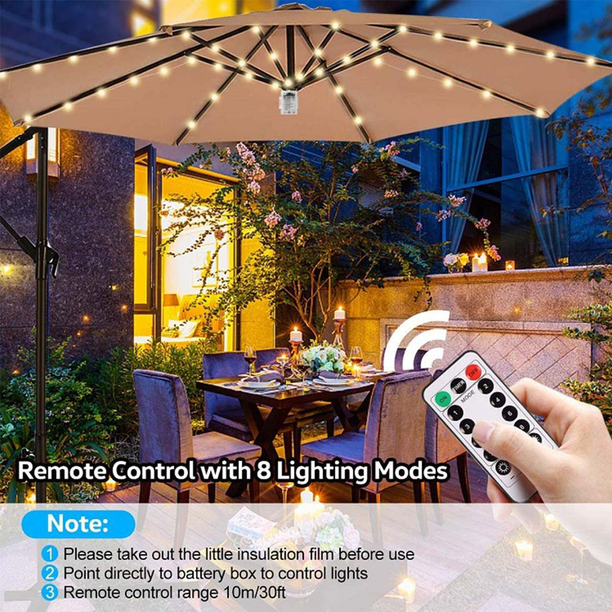 parasol lights with remote control