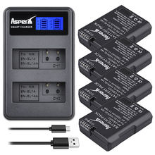 Lot de 4 batteries EL14 + LCD USB, double chargeur pour batterie Nikon D5500 D5300 D3300 D5100 D5200 D3100 D3200 P7000