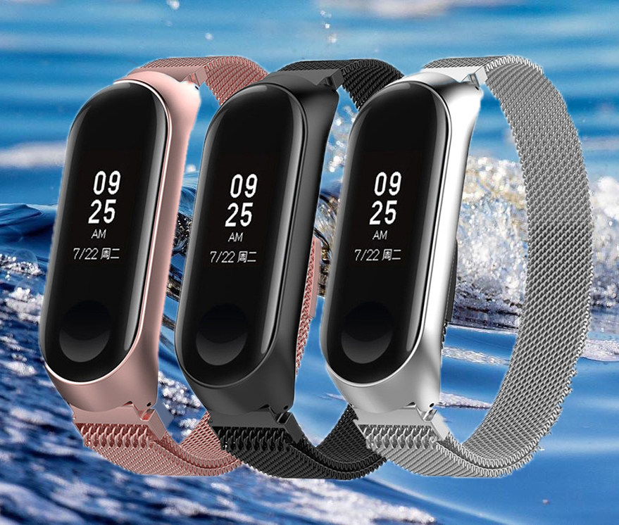 Smart Watch Strap 22mm Metal Watch Bracelets For Xiaomi Mi Band 3 4 Wrist Strap For Xiaomi Miband 3 4 Bracelet For Mi Band 3