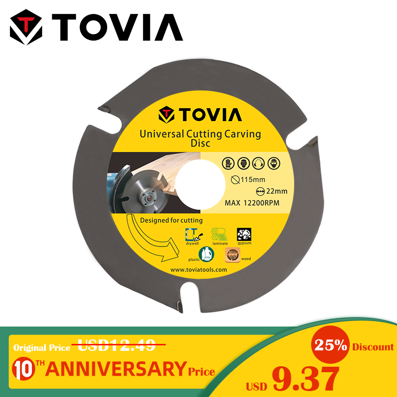 TOVIA 3T 115 mm 4.5inch Multitool Lâmina de Serra Circular Moedor de Disco De Corte De Madeira Viu Disco De Carboneto De Ponta de Corte de Madeira Acessórios da Ferramenta de Poder