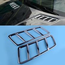 DWCX 2Pcs Car ABS Chrome Engine Hood Air Vent Cover Trim Fit for Mercedes-Benz ML W166 GL X166 GLE GLS