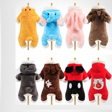 Warm Soft Fleece Pet Dog Cat Clothes Cartoon Puppy Dog Costumes Thicken Winter Clothing for Small Dogs Chihuahua Yorkie Outfits hipidog sheep pattern coral velvet parkas pet dog pants autumn winter thicken warm jumpsuit for chihuahua small dogs cat clothes