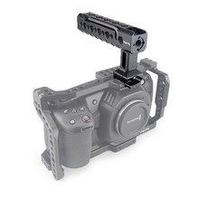 Magicrigカメラハンドルnatoトップハンドルarriと位置決め穴/コールドシューマウント一眼レフカメラ用ケージビデオカメラケージリグ
