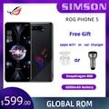 Asus ROG Phone 5 Snapdragon 888 5G игровой телефона NFC 16 Оперативная память NFC 144 Гц Дисплей 6000 мАч быстрой зарядки 65 Вт 64MP ROG5Mobile чехол для телефона