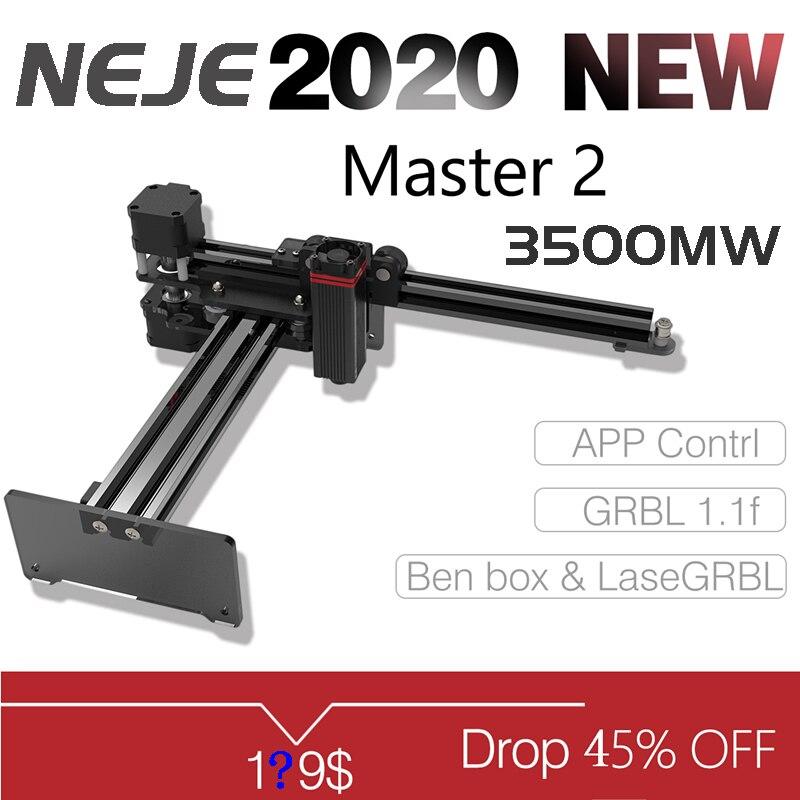 2020 NEJE Master 2 3,5 W desktop Laser Graveur und Cutter Laser Gravur und Schneiden Maschine-Laser Drucker Laser CNC Router