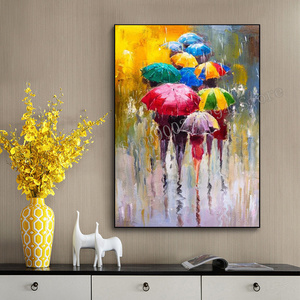 Full square, circular drill, diamond painting embroidery abstract portrait girl with umbrella 3D DIY Mosaic home decor FF2602