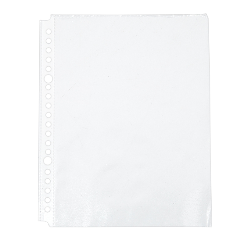 Pack Of 200 A5 Clear Punched Pockets - Plastic Poly Folders