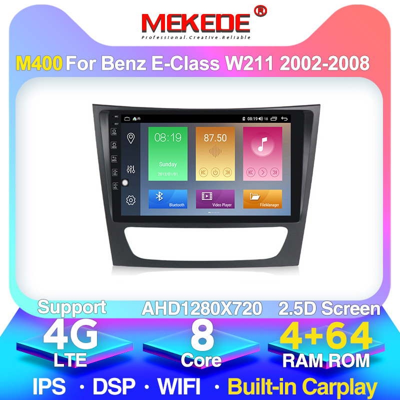 IPS DSP 4GLTE 4+64G Android 10 Car <font><b>GPS</b></font> Navigation DVD Player For <font><b>Mercedes</b></font> Benz E-class <font><b>W211</b></font> E200 E220 E240 E270 E280 E300 E350 image