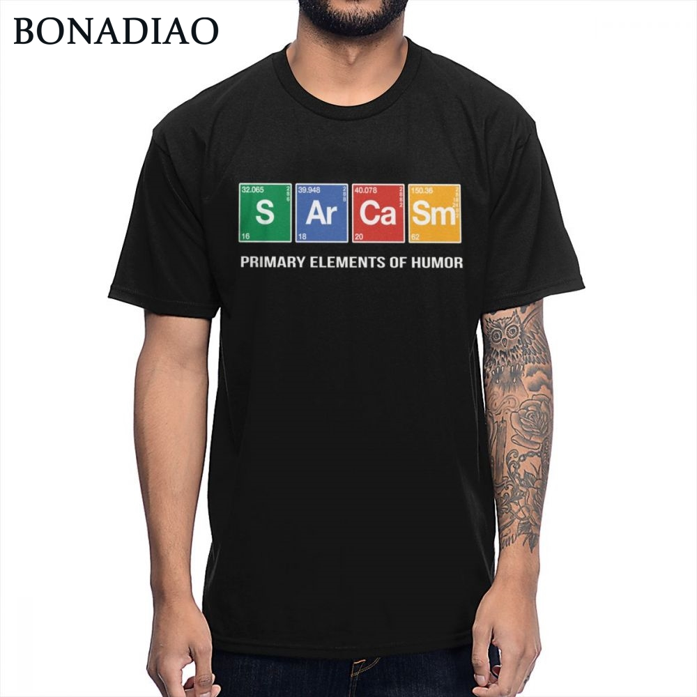 Funny Primary Elements Of Humor S <font><b>Ar</b></font> Ca Sm T <font><b>Shirt</b></font> Chemistry Science Joke Periodic Table Design T-<font><b>shirt</b></font> image