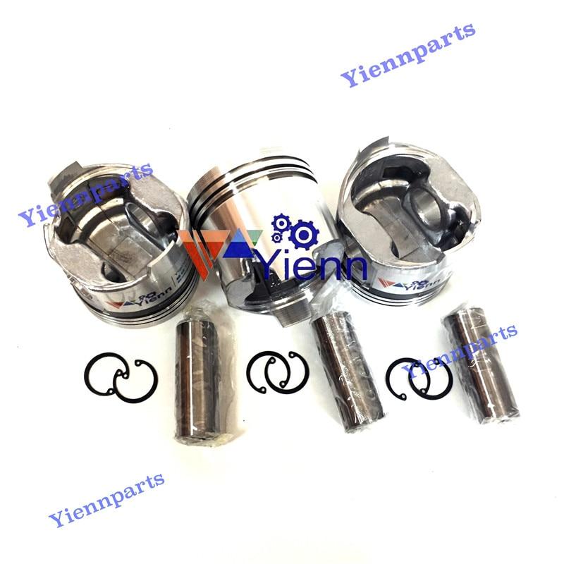 Yanmar 3TNC88 피스톤 키트 (핀 클립 포함) B37 미니 굴삭기 디젤 엔진 공간 부품