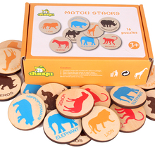 цена на Baby toy Children Memory Training Matching Pair Game Board game Early Education Interactive toy Parent child link up chess Toys