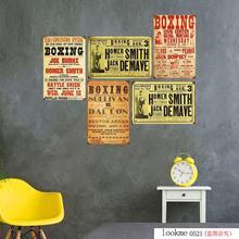Placa de Arte de boxeo Metal lata signo Bar Pub hombre cueva Vintage placa cartel decoración hogareña Cocina