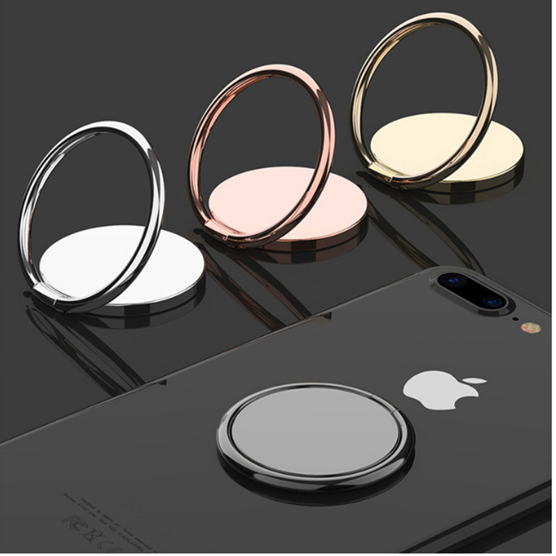 360 Degree Extremely Thin Luxury Metal Mobile Phone Socket Universal Magnetic Car Bracket Rotating Finger Ring Bracket Fixed